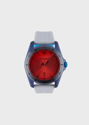 Emporio Armani Man Three-Hands Silicone Watch