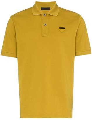 Prada mustard yellow polo shirt
