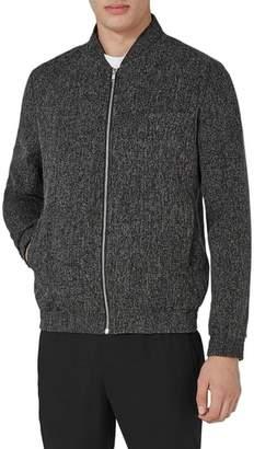 Topman Grey Harvey Bomber Jacket