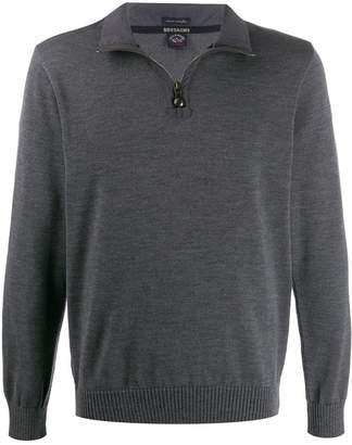 Paul & Shark wool zip detail sweater