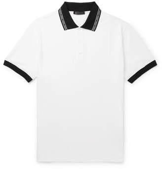 Versace Logo-Trimmed Cotton-Piqué Polo Shirt