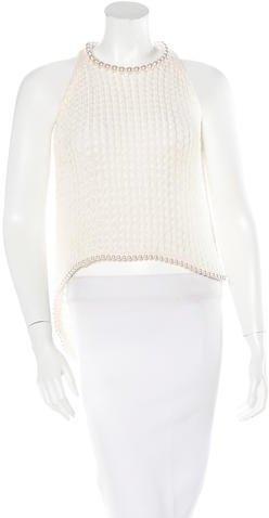 Chanel Embellished Silk Top