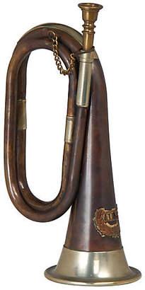 """12"""" Horn Accent Piece - Antiqued Brass - Bradburn Home"""