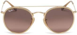 Ray-Ban 'RB3647' metal round aviator sunglasses
