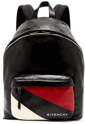 Givenchy Urban Striped Pocket Leather Backpack - Mens - Black Multi