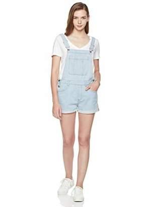 Parker Lily Women's Juniors Adjustable Denim Overall Shorts