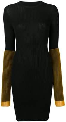 Maison Margiela contrast sleeve rib knit mini dress