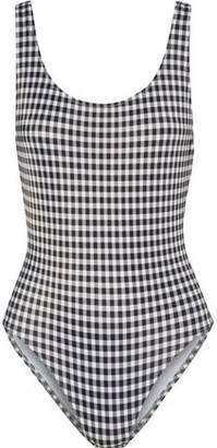 Solid & Striped The Anne-Marie Checked Swimsuit