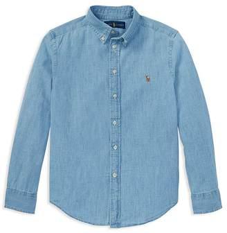 Polo Ralph Lauren Ralph Lauren Boys' Chambray Button Down Dress Shirt - Big Kid