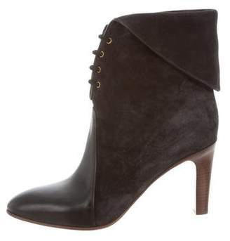 Chloé Suede Lace-Up Booties