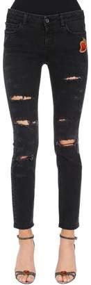 Dolce & Gabbana Skinny Sacred Heart Ripped Denim Jeans