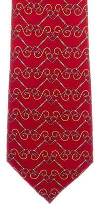 Fendi Vintage Chain-Link Print Silk Tie