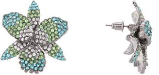 Nina Pave Swarovski Crystal Flower Stud Earrings