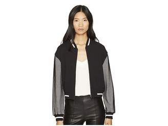 Moschino Mesh Bomber Women's Coat