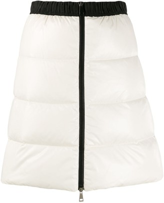 Moncler full zip quilted skirt