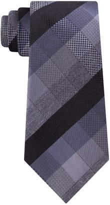 Kenneth Cole Reaction Men Modern Plaid Slim Tie