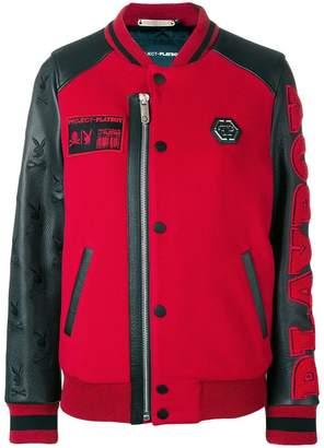 Philipp Plein X Playboy logo bomber jacket