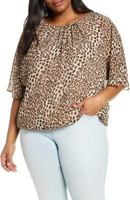 Vince Camuto Animal Flurry Batwing Sleeve Top