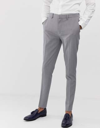 Design DESIGN super skinny suit trousers in mid grey