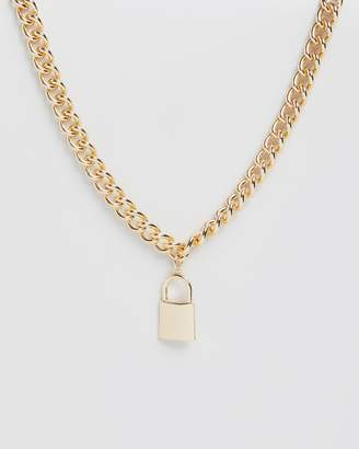 Missguided Chunky Padlock Necklace