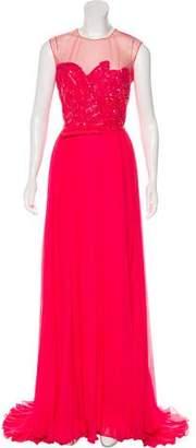 Elie Saab Silk Evening Dress w/ Tags