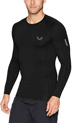 Peak Velocity Men's Sync Long Sleeve Compression-Fit Run Shirt
