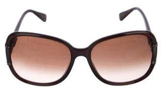 Lanvin Crystal-Accented Gradient Sunglasses