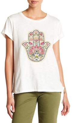 Democracy Side Knot Embroidered Top