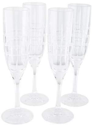 Ralph Lauren Set of 4 Cocktail Party Champagne Flutes
