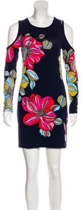Trina Turk Cutout-Accented Floral Print Dress