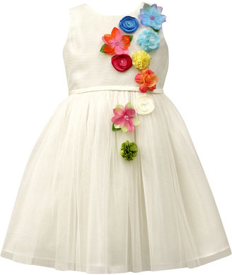 Jayne Copeland Flower-Front Mesh Dress, Toddler & Little Girls (2T-6X) $78 thestylecure.com