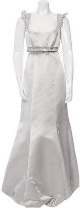 Vera Wang Satin Evening Dress $195 thestylecure.com