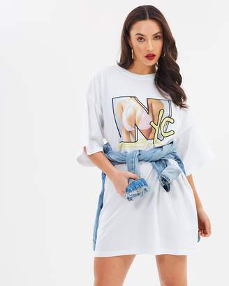 Missguided NYC Oversized T-Shirt Dress