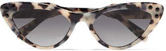 Miu Miu Cat-eye Acetate Sunglasses - Black