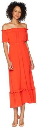 CeCe Vivian - Off the Shoulder Smocked Gauze Maxi Women's Dress