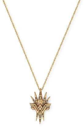 Alex and Ani 14K Gold Wonder Woman Spike Pendant Necklace