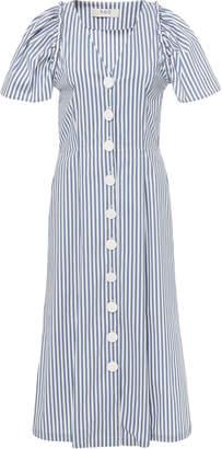 Sea Riviera Puff Sleeve Button Down Dress