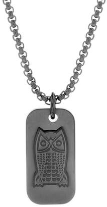Ben Sherman Owl Dog Tag Pendant Necklace