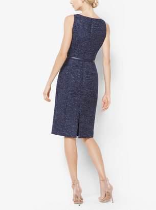 Michael Kors Denim Wool-Jacquard Sheath Dress