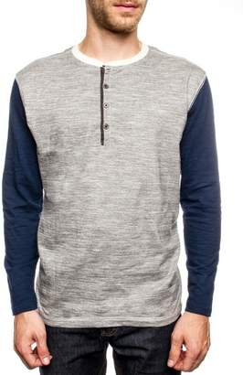 PX Liam Contrast Sleeve Henley