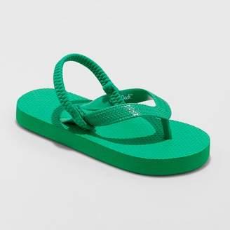 Cat & Jack Toddler Boys' Lance Flip Flop Sandals Green