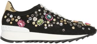 Limit.ed Embellished Lace Sneakers $1,014 thestylecure.com