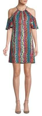Viola Multicolored Floral Shift Dress