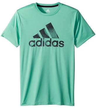 adidas Kids Pattern Fill Logo Tee Boy's T Shirt