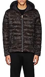 Save The Duck SAVE THE DUCK MEN'S CAMOUFLAGE CHANNEL-QUILTED JACKET-BLACK SIZE XL
