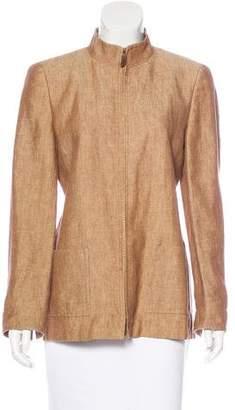 Akris Linen Zip-Up Jacket