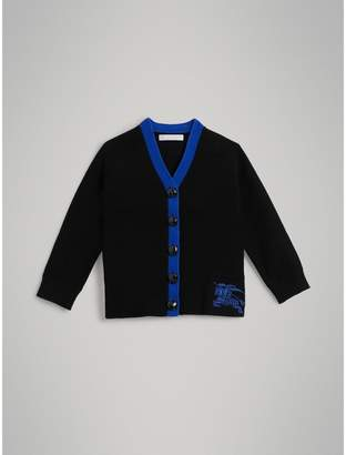 Burberry Two-tone Cotton Knit Cardigan