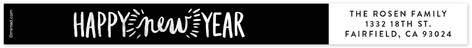 Handwritten New Year Skinnywrap Address Labels