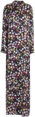 Equipment Printed Washed-silk Maxi Dress