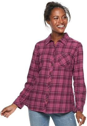 0d22ba67 Sonoma Goods For Life Women's SONOMA Goods for Life Essential Supersoft Flannel  Shirt